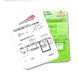 boarding cards