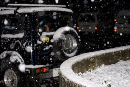 Erster Schnee in Japan