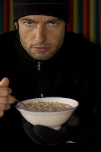 Robert beim Frühstück