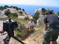 Aufnamhmen vor der aufregenden Kulisse des Mittelmeeres