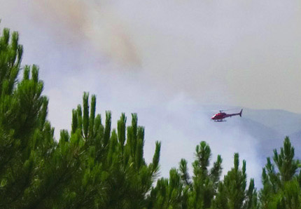 Waldbrand im Var